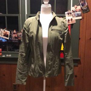 EUC Banana Republic Green Bomber Jacket